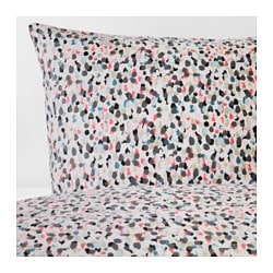 SMÅSTARR quilt cover and 4 pillowcases, dotted, multicolour Thread count: 144 /inch² Pillowcase quantity: 4 pack Quilt cover length: 220 cm
