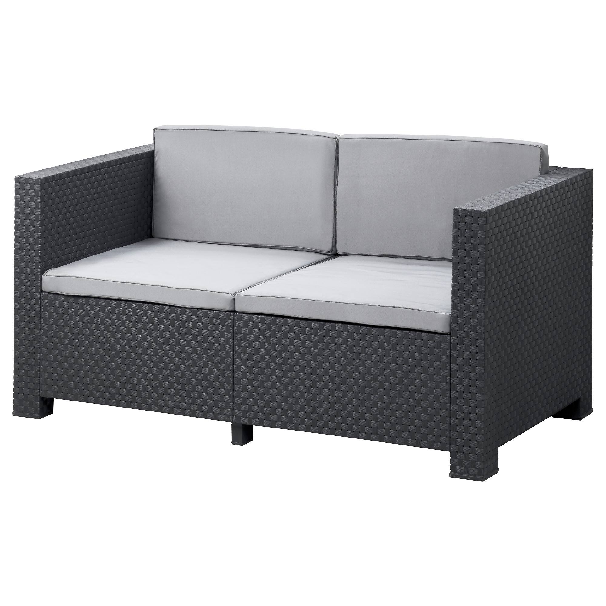 ikea outdoor sofa pplar h ll 4 seat sofa with footstool outdoor brown thesofa. Black Bedroom Furniture Sets. Home Design Ideas