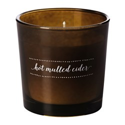 "VINTER 2016 scented candle in glass, Hot mulled cider brown, brown Height: 3 "" Burning time: 25 hr Height: 7.5 cm Burning time: 25 hr"