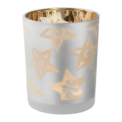 VINTER 2016 candle holder, frosted glass Height: 12.5 cm