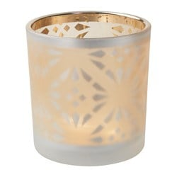 VINTER 2016 tealight holder, frosted glass Height: 8 cm