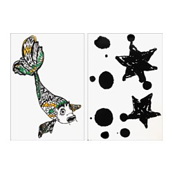 SPRIDD decoration stickers, assorted designs fish, star Length: 100 cm Width: 70 cm