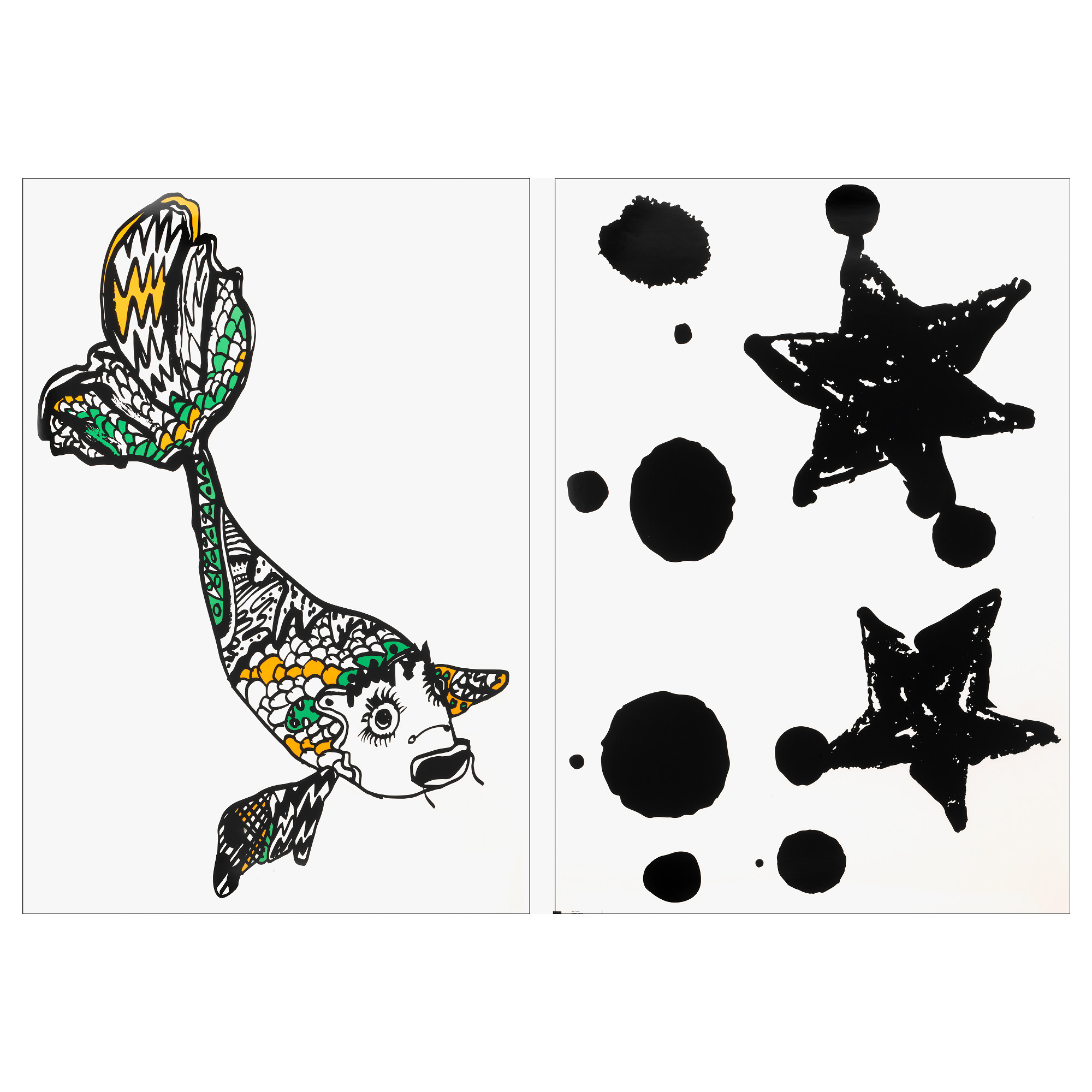 SPRIDD decorative stickers, assorted designs fish, star Length: 39 ¼