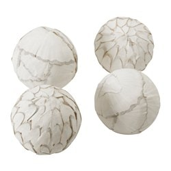 SOMLIG decoration, ball, white Diameter: 10 cm Package quantity: 4 pieces