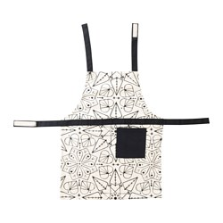 VINTER 2016 children's apron, white, black Length: 56.5 cm
