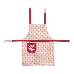 VINTER 2016 children's apron, white, red Length: 56.5 cm