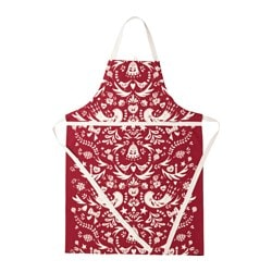 VINTER 2016 apron, red, white Length: 97 cm
