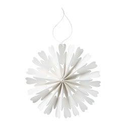 VINTER 2016 hanging decoration, snowflake white Diameter: 18 cm