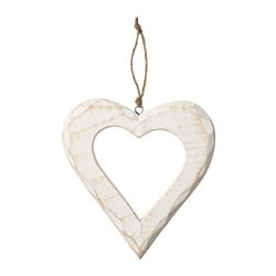 VINTER 2016 hanging decoration, heart white Height: 23 cm