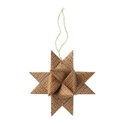 VINTER 2016 hanging decoration, star natural Height: 21 cm