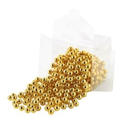 VINTER 2016 garland, pearls gold-colour Length: 5 m