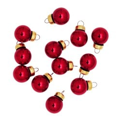 VINTER 2016 decoration, bauble, glass red Diameter: 2 cm Package quantity: 12 pieces