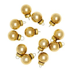 VINTER 2016 decoration, bauble, glass gold-colour Diameter: 2 cm Package quantity: 12 pieces