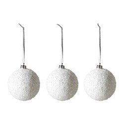 VINTER 2016 decoration, bauble, white Diameter: 8 cm Package quantity: 3 pieces