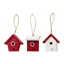VINTER 2016 hanging decoration, birdhouse red Height: 8 cm Package quantity: 3 pieces