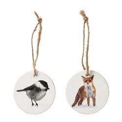 VINTER 2016 hanging decoration, porcelain Diameter: 7 cm Package quantity: 2 pieces