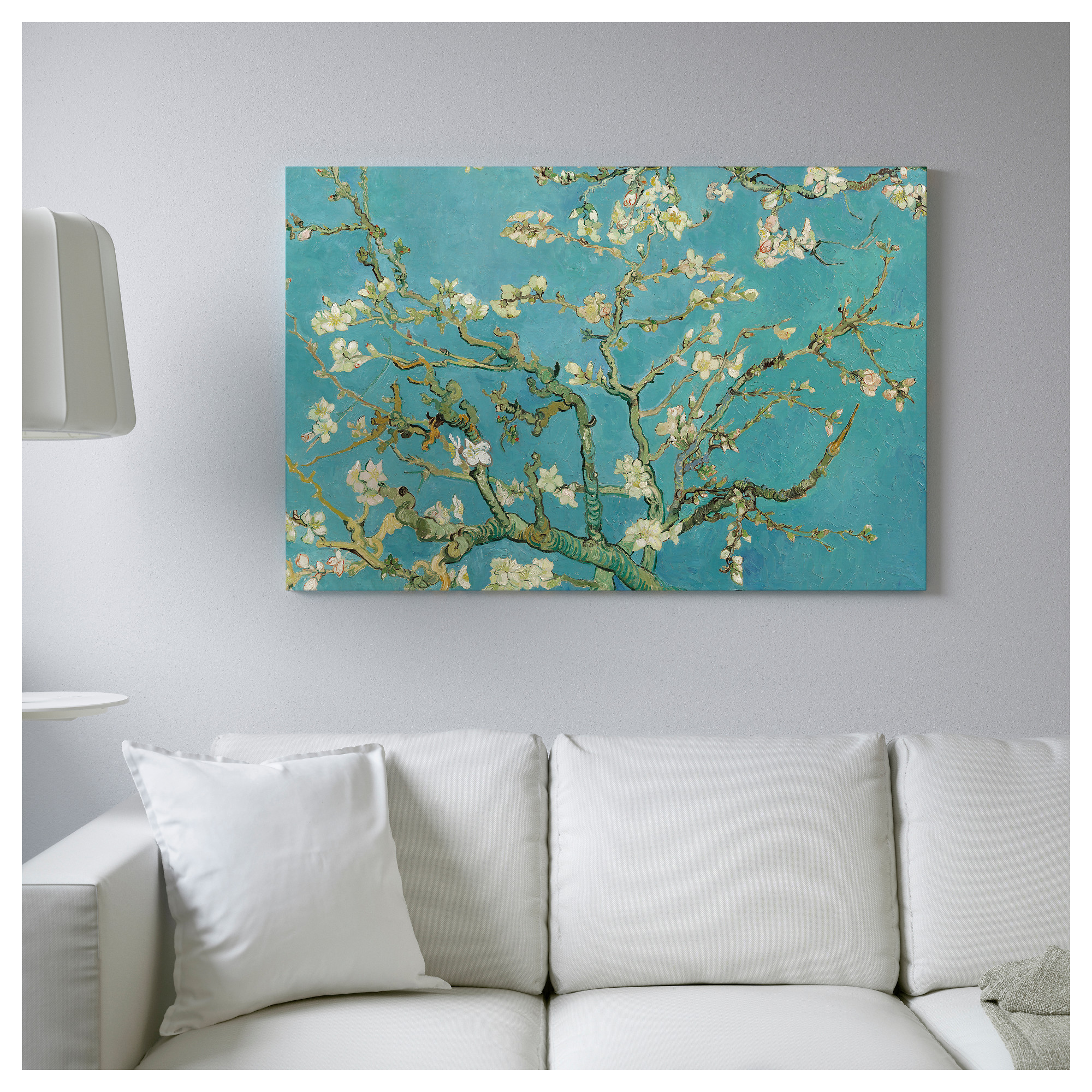 BJÖRKSTA Picture and frame - black - IKEA for Almond Blossom Van Gogh Poster  555kxo