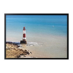 "BJÖRKSTA picture and frame, Beachy Head lighthouse, black Width: 55 "" Height: 39 ¼ "" Width: 140 cm Height: 100 cm"