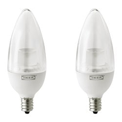 RYET, LED bulb E12 200 lumen, chandelier clear