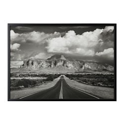 "BJÖRKSTA picture and frame, Superstition mountains, USA, black Width: 55 "" Height: 39 ¼ "" Width: 140 cm Height: 100 cm"