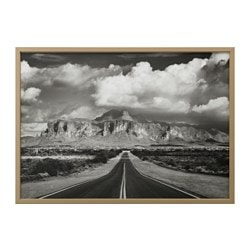 "BJÖRKSTA picture and frame, Superstition mountains, USA, brass color Width: 55 "" Height: 39 ¼ "" Width: 140 cm Height: 100 cm"