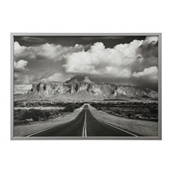 "BJÖRKSTA picture and frame, Superstition mountains, USA, aluminum color Width: 55 "" Height: 39 ¼ "" Width: 140 cm Height: 100 cm"