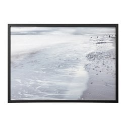 "BJÖRKSTA picture and frame, winter waves, black Width: 55 "" Height: 39 ¼ "" Width: 140 cm Height: 100 cm"