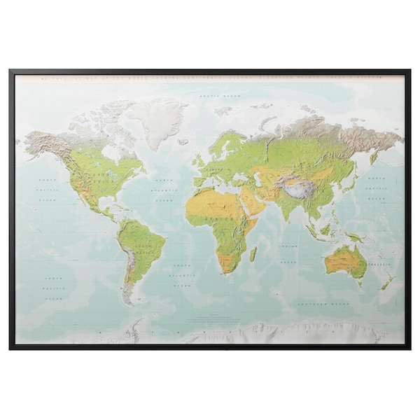 bb4c5f010 BJÖRKSTA Picture and frame - planet earth
