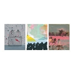 TRILLING poster, set of 3, colourful nature Width: 40 cm Height: 50 cm