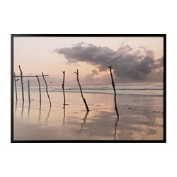 BJÖRKSTA, Picture and frame, African dawn, black