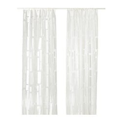 STRANDRÅG sheer curtains, 1 pair, white