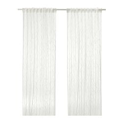 SPARVÖRT sheer curtains, 1 pair, white