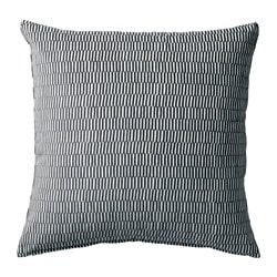 STOCKHOLM 2017 cushion, striped grey, white Length: 50 cm Width: 50 cm Filling weight: 750 g