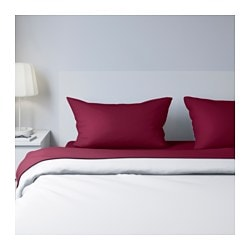 SÖMNIG sheet set, dark pink Thread count: 166 square inches Thread count: 166 square inches