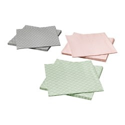 SPILLTID paper napkin, assorted colours Length: 33 cm Width: 33 cm Package quantity: 30 pack