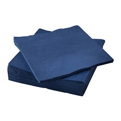 FANTASTISK paper napkin, dark blue Length: 40 cm Width: 40 cm Package quantity: 50 pieces