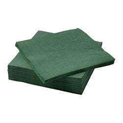 FANTASTISK paper napkin, dark green Length: 40 cm Width: 40 cm Package quantity: 50 pieces