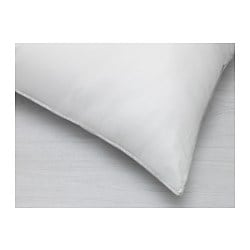 "KLOTULLÖRT body pillow, white Thread count: 176 square inches Length: 19 5/8 "" Width: 39 3/8 "" Thread count: 176 square inches Length: 50 cm Width: 100 cm"