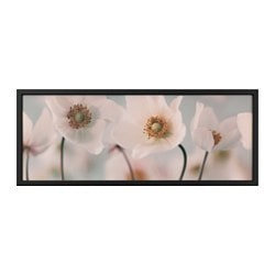 "BJÖRKSTA picture and frame, row of whites, black Width: 55 "" Height: 22 "" Width: 140 cm Height: 56 cm"