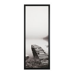 BJÖRKSTA, Picture and frame, still waters, black