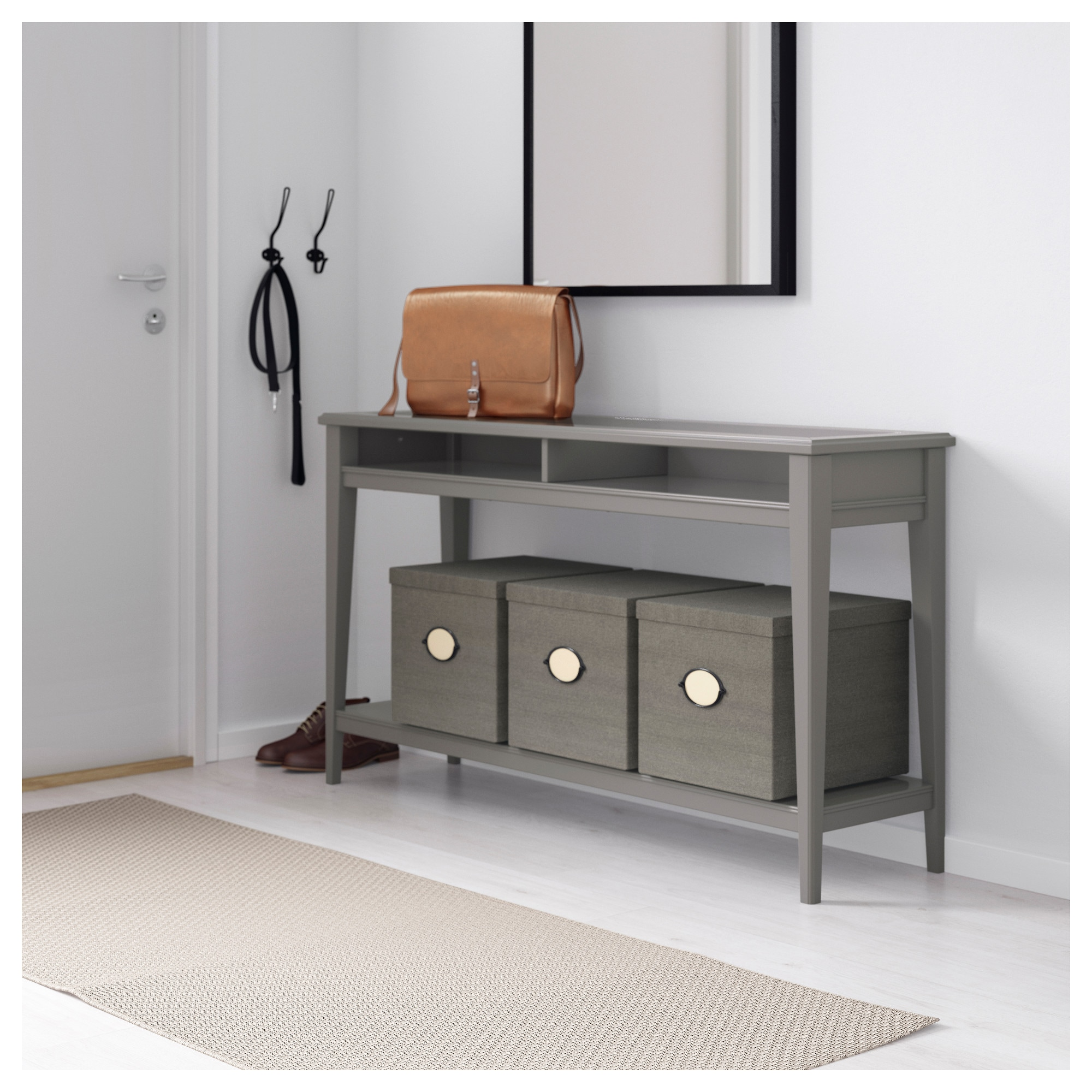 Liatorp console table whiteglass ikea geotapseo Images