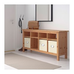 Great HEMNES Console Table, Light Brown