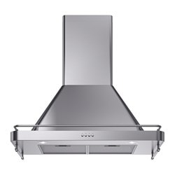 FÖLJANDE wall mounted extractor hood, stainless steel Width: 80 cm Depth: 48.0 cm Min. height: 99.0 cm