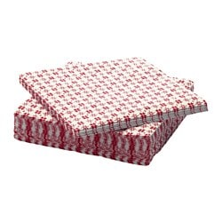 VINTER 2016 paper napkin, white, red Length: 24 cm Width: 24 cm Package quantity: 30 pieces
