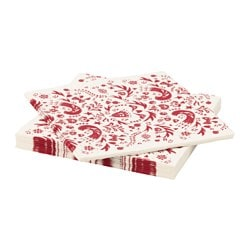 VINTER 2016 paper napkin, white, red Length: 33 cm Width: 33 cm Package quantity: 30 pieces