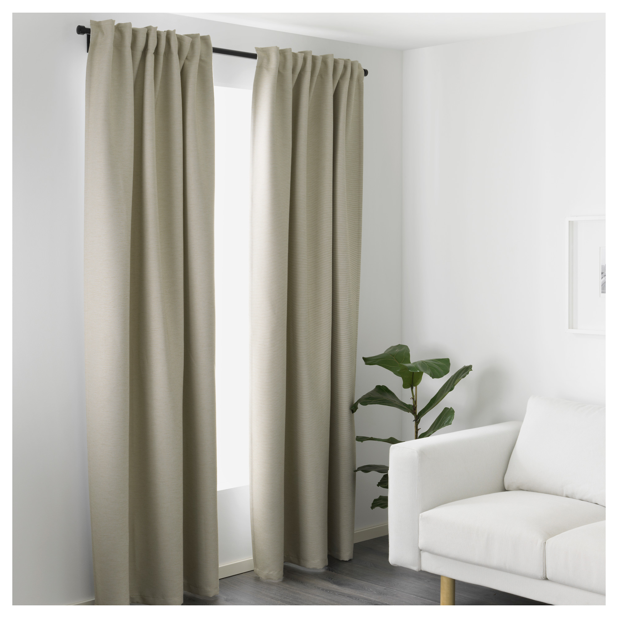 VILBORG Curtains, 1 pair - IKEA