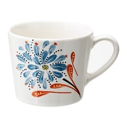 "FINSTILT mug, patterned Height: 3 ¼ "" Volume: 12 oz Height: 8 cm Volume: 36 cl"
