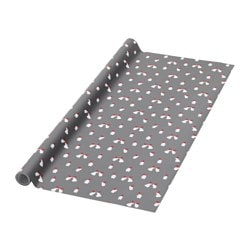 VINTER 2016 gift wrap, roll, gray, Santa Claus Length: 16.40 ' Width: 2.30 ' Area: 37.67 sq feet Length: 5 m Width: 0.7 m Area: 3.50 m²