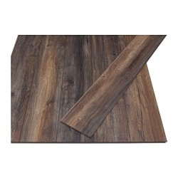 GOLV laminated flooring, dark brown Length: 138 cm Width: 19.3 cm Plank thickness: 8 mm