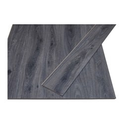 GOLV laminated flooring, dark grey